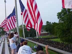 Flags at Fort Lee on the Fourth