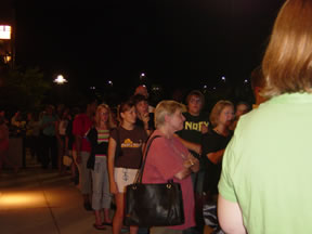 The line at the Harry Potter party