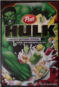 Hulk cereal - front