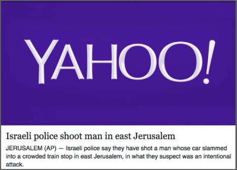 Anti-Israel AP headline