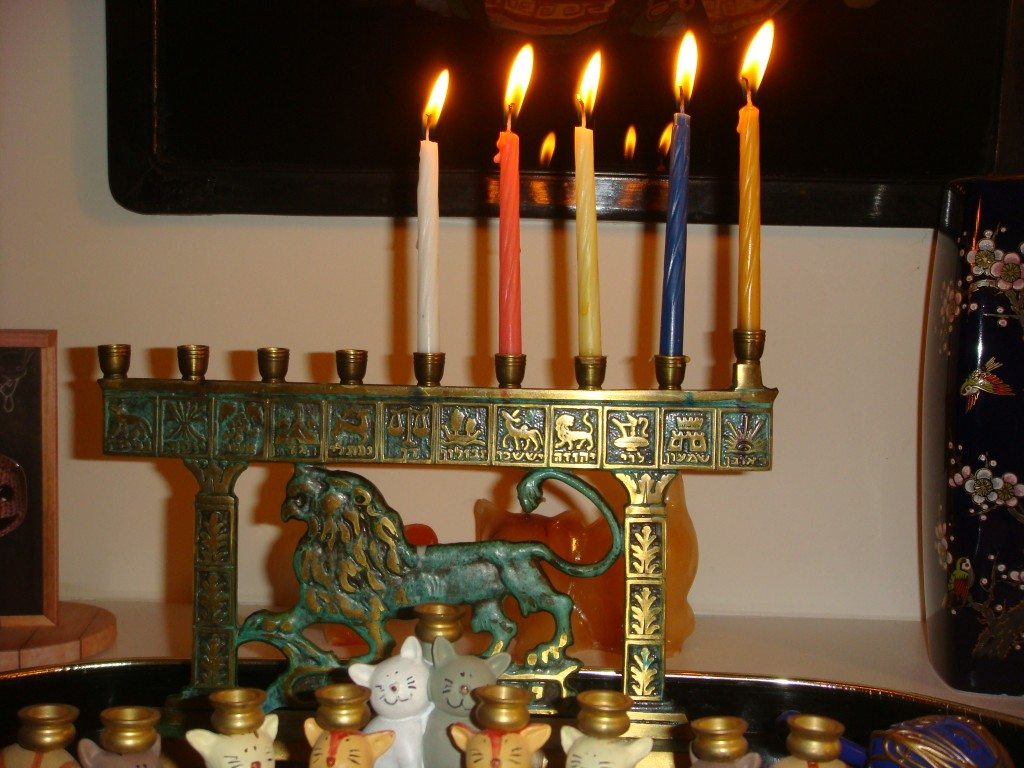 Fourth light menorah